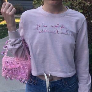1/1 Clueless Inspired Hand Embroidered Sweatshirt